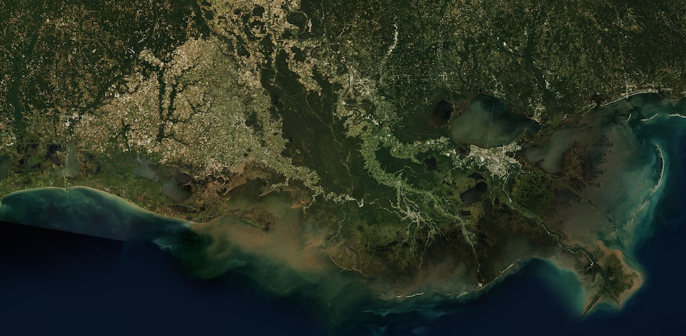 Louisiana from space