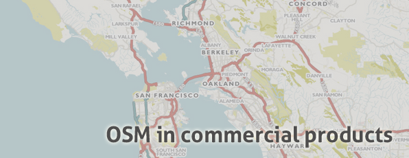 OSM in Commercial Products